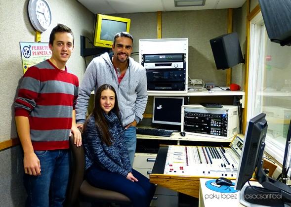Gerard Plana, Alicia Rodriguez i Marc Carrillo a Ràdio Sant Boi