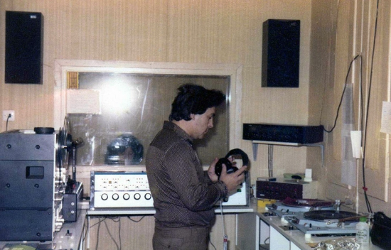El primer estudio de Ràdio Sant Boi
