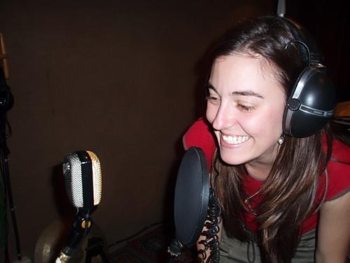 Enregistrant veus per un CD