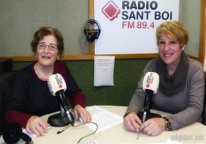 """Carme Casanova i Candelas Ballesteros <br> Ràdio Sant Boi """"La veu de la gent gran"""""""