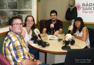 Sergio Díaz, Maria del Mar Sánchez, Carlos Fernández i Manoli Buisan Grup de Teatre Chapó de Tots som santboians.